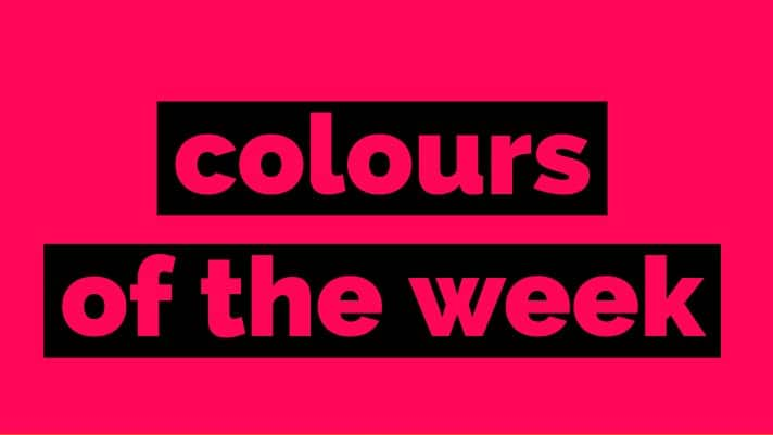 Colours of the week 10 Oct 2018